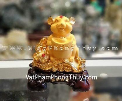 TM016 Chuột vàng ôm đỉnh vàng trên gậy như ý Tượng Chuột Phong Thủy với 36 siêu phẩm cực đẹp và ý nghĩa sẵn sàng cùng bạn đón may mắn năm Canh Tý 2020